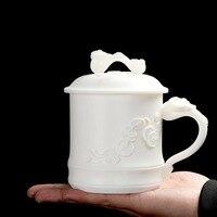 420 мл все кружка ручной работы белый фарфор высокого Класс рукоятки Чай чашки офис Чай церемонии мастер чашки Drinkare для коллекции декор