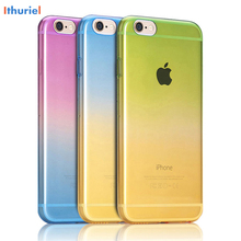 Ithuriel For iPhone 6 6s 5 5s SE 7 7 plus Bumper Case Gradient Cover Flexible Soft TPU Protective Shell Cases