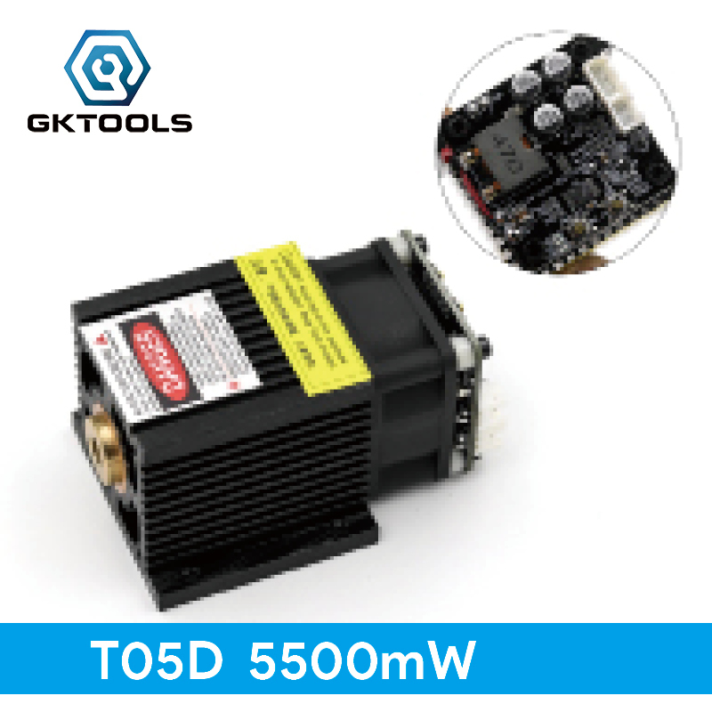 GKTOOLS 445nm 5500mW 12V Fixed Focus Laser Module Diode TTL /PWM Marking Stainless Steel DIY Laser Engraver Cutter FB05D5500mw for hp cq40 cq41 cq45 dv4 for amd discrete graphics dedicated laptop fan