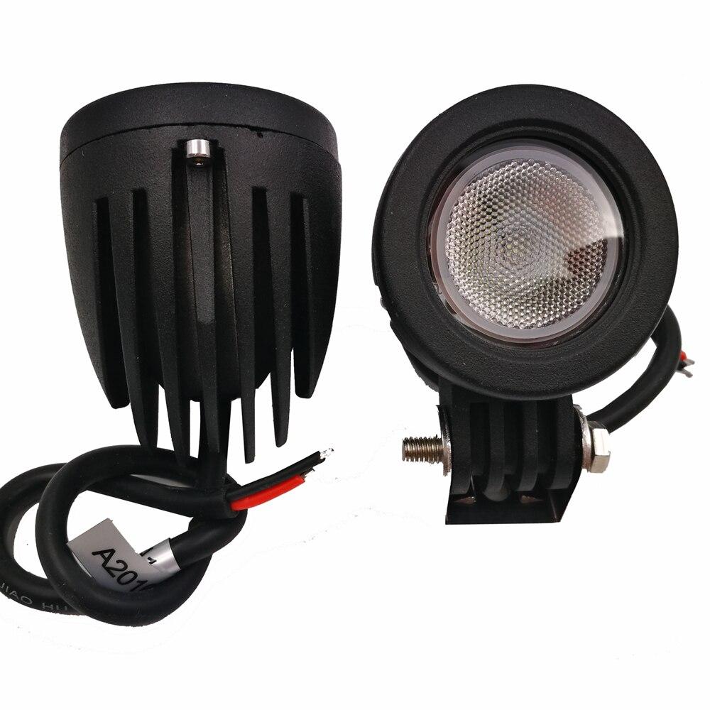 2Pcs 10W LED Flood / Spot Beam Work Light for Honda Motorcycle Headlight 4WD 4X4 SUV Off-road LED Driving Truck Fog Lamp 12V 10w led 60 degrees flood beam work light w cree xml t6 10 30v