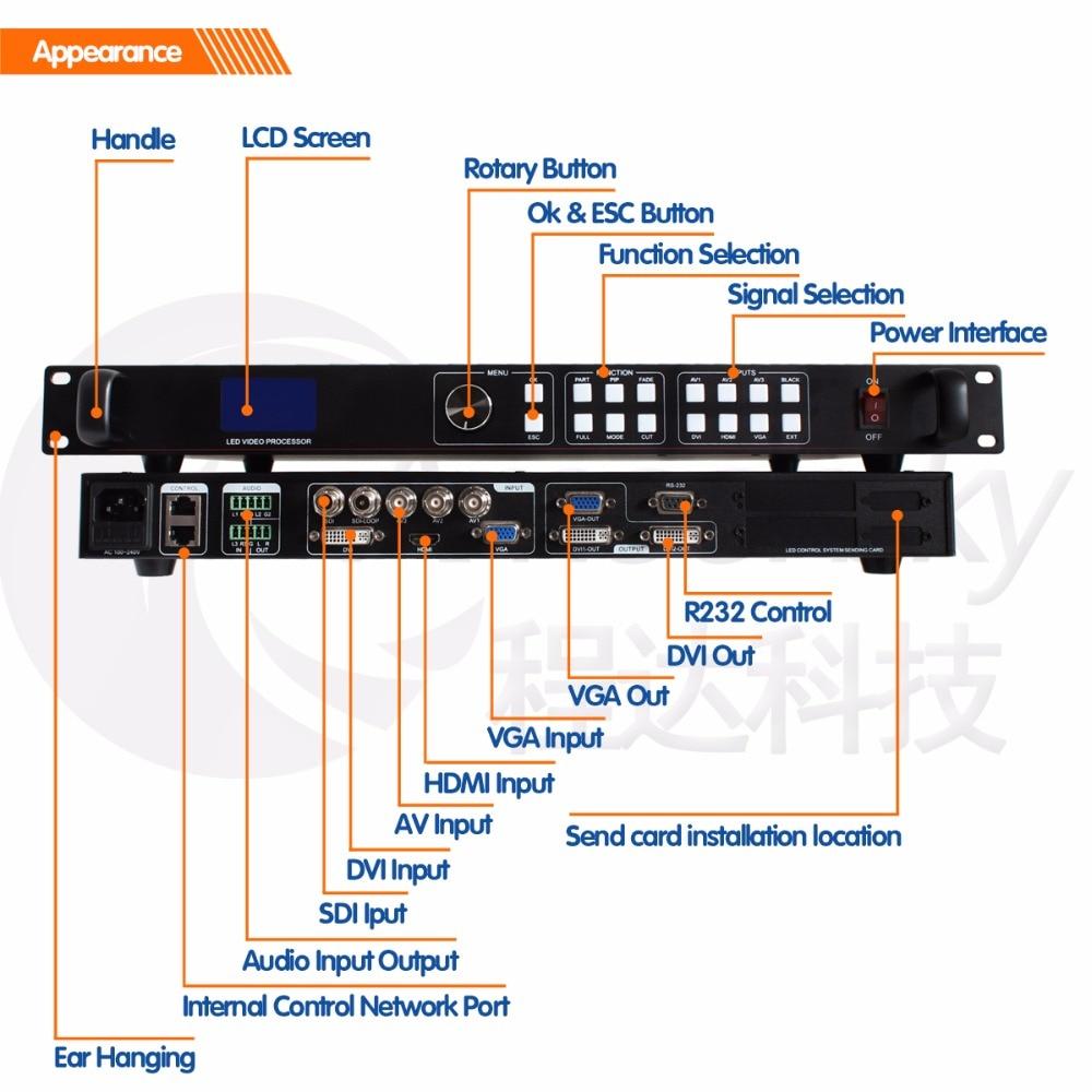 Flexible Led display SDI video matrix switcher led seamless switcher AMS-LVP613S for novastar msd300 as videowall ledsync850M
