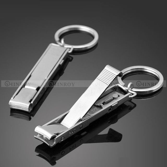 Ultra Slim Small Foldable Stainless Steel Nail Clippers Keychain EDC ...