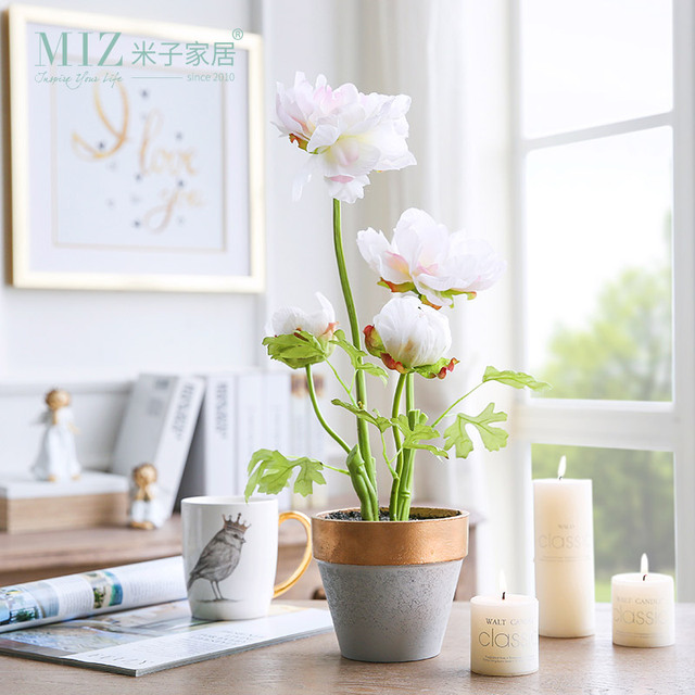 miz artificial flowers for decoration potted plants home garden accessories interior decor gift for families