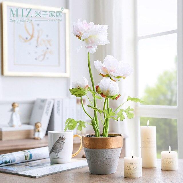 Miz flores artificiais para decora o de vasos de plantas for Plantas para interiores de casa