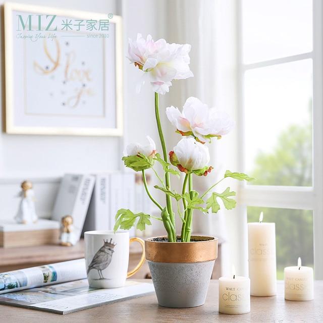 Miz flores artificiales para decoraci n de plantas en for Macetas para interiores hogar