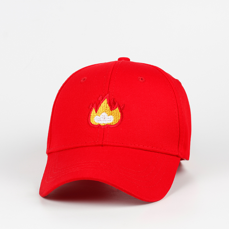 ec4211ad88118f Brand New 2018 fashion flame cotton hat embroidery baseball hat hip hop  caps 100% cotton men women cap adjustable for sun hat-in Baseball Caps from  Apparel ...