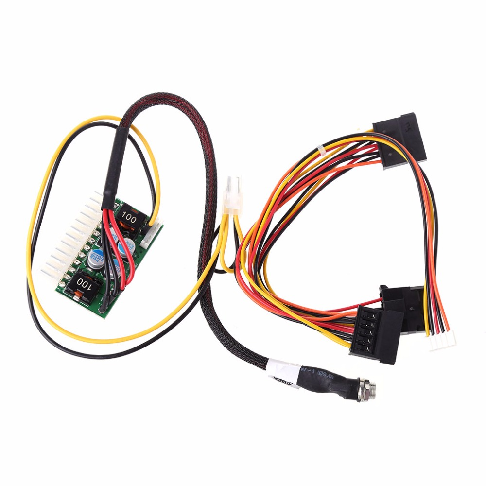 OOTDTY DC 12V 150W 24-Pin ATX Switch PSU Car Auto Mini ITX Power Supply Module Cable цены