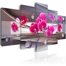 PJMT-5 pieces/set Modern flower series Picture Print Painting On Canvas Wall Art Home Decor Living Room