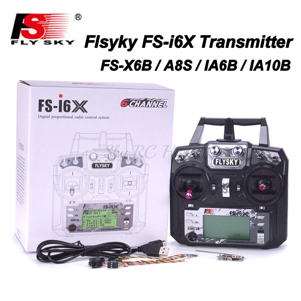 Flysky FS i6X FS I6X 2 4GHz 10CH RC Transmitter With i BUS IA6B X6B A8S