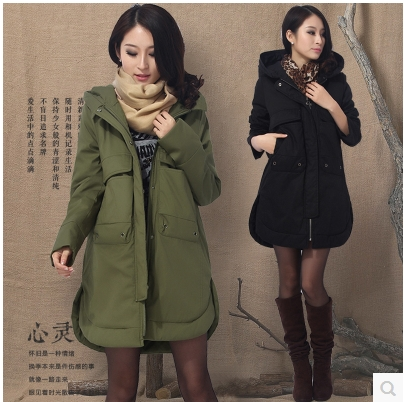 Nice Winter Han Edition Loose Big Yards In The Thickening cotton-padded Jacket Leisure Female Long Uniform Coat On Tide белые балетки 41 размера
