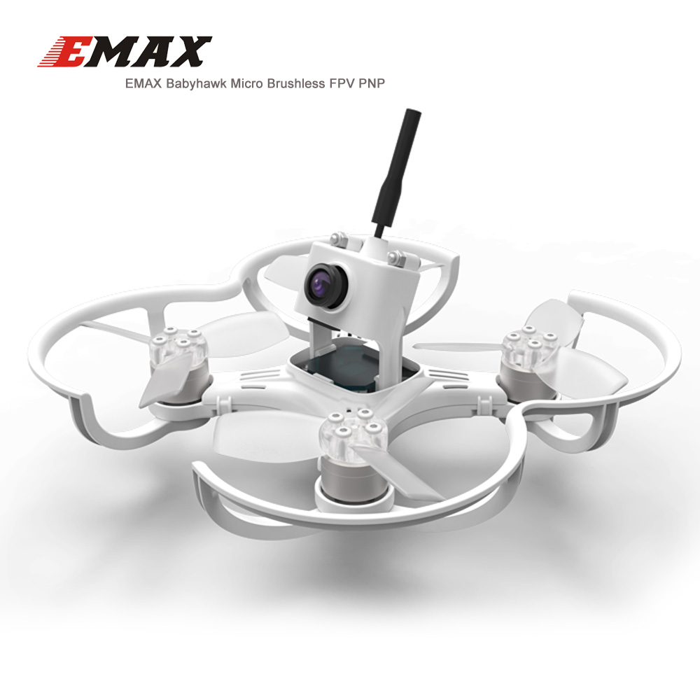 EMAX Babyhawk 87mm Micro Brushless FPV Racing Drone Quadcopeter with RS1104 5250KV motor TS2345 Propeller - PNP VERSION original emax babyhawk 85mm micro brushless fpv racing drone pnp version white