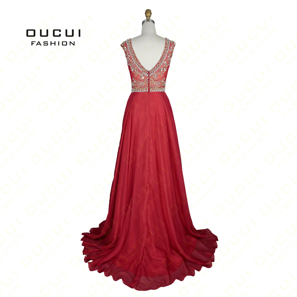 Real Photo Nude Color Tulle Chiffon Fabric See Through Beading Handwork  Long Prom Dress OL102363-in Evening Dresses from Weddings   Events on  Aliexpress.com ... 02bc9cf395d0