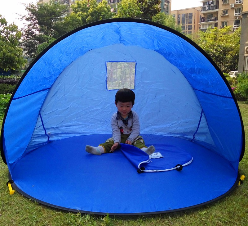 pop up tent blue 1