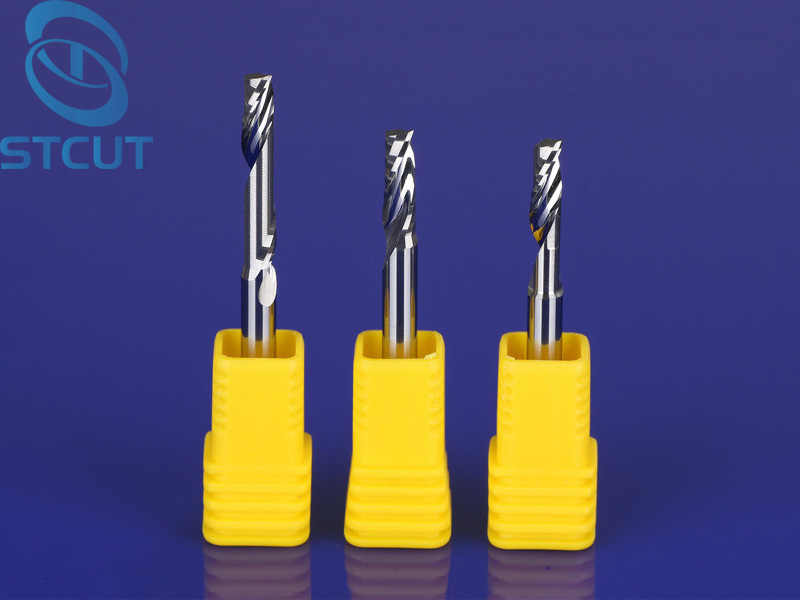10PCS Single Flute Milling cutters for Aluminum CNC Tools Solid Carbide CNC flat End mills Router bits,aluminum composite panels
