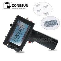 Zonesun handheld peso leve impressora a jato de tinta data codificador máquina de codificação led display tela para marca registrada logotipo gráfico