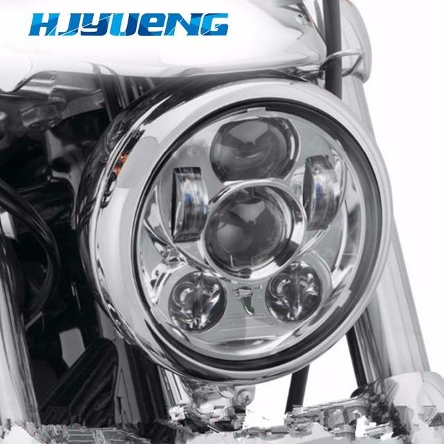 "HJYUENG for Harleys 5.75"" headlight motorcycle 5 3/4"" led headlight for Harleys 5-3/4"" Motorcycle Black Projector"