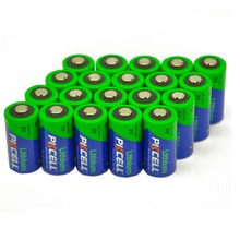 20Pcs/lot PKCELL 3V 16340 CR123A Battery lithium-ion battery for the red LED of flashlight