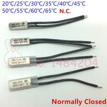 Термальность протектор KSD9700 20 25 30 35, 40 45 50 55 60 65 градусов Температура переключатель 250V5A термостат с нормально замкнутым контактом N.C. 5 шт