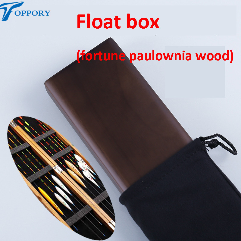 Toppory 1PCS High Quality Wood Float Box Fishing Wooden Float Bobber Buoy Buoyage Storage Case Herabuna Hera Fishing Tackle box