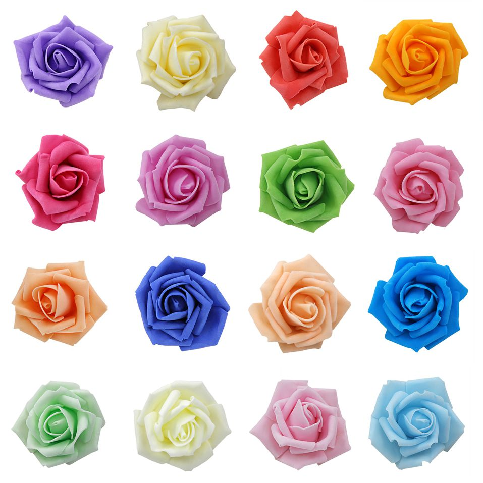 Hot Sale Artificial Foam Roses For Home And Wedding Decoration Flower Heads Kissing Balls For Weddings