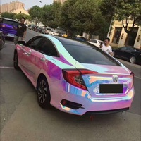 Colorful Pink Electro Coating Car Body Film Glossy Pink Color Change Car Interior Styling Vinly Wrap for Home Laptop Mobile Use