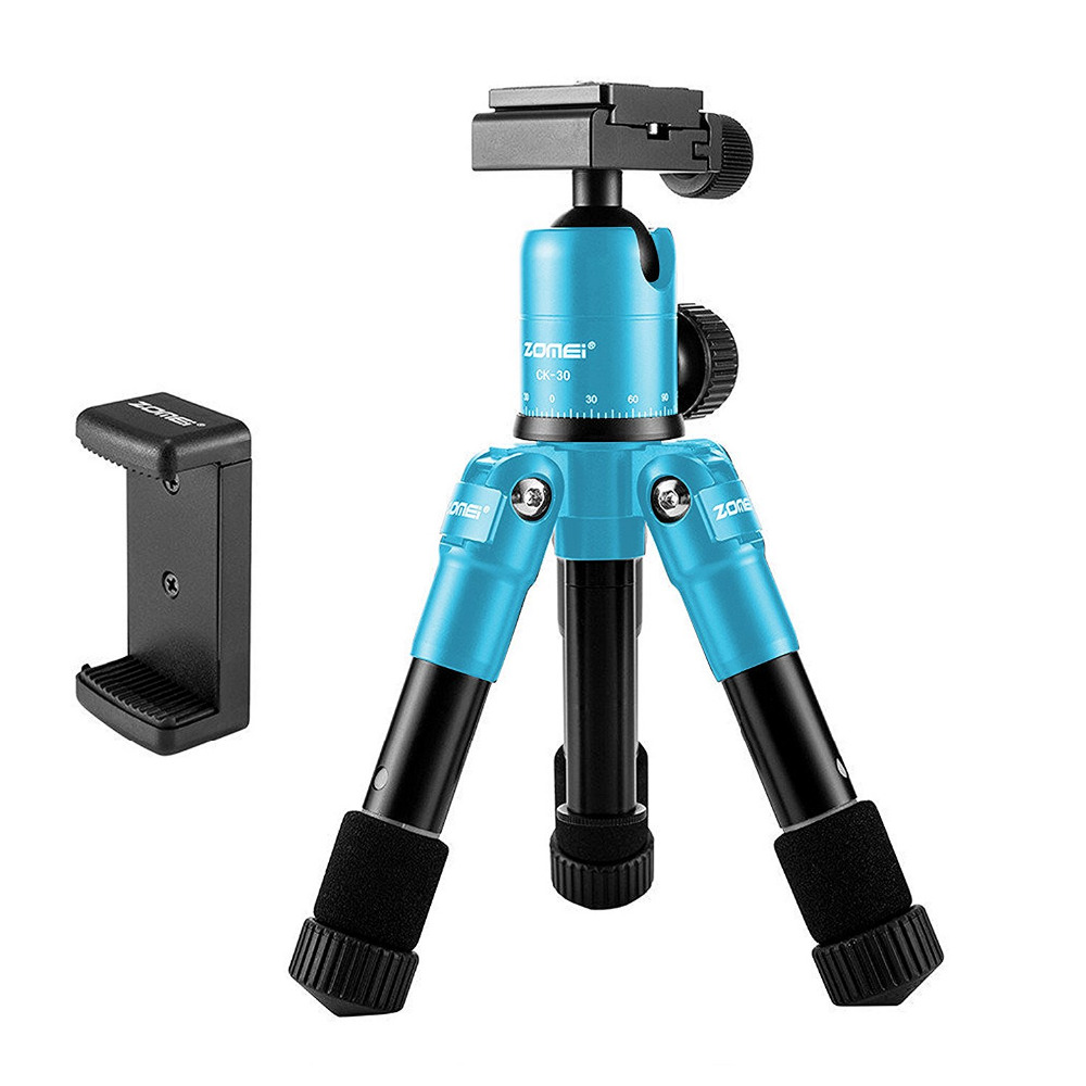 Zomei Lightweight Compact Aluminum Tripods Table Desktop Tabletop Tripod for phone with Panoramic Ball Head for