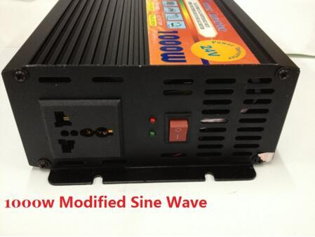 high capacity peak power 3000W 1500W DC12V/24V to AC220V 50HZ modified wave dc/ac power inverter plastic car dc12v 24v to ac220v power inverter with usb port black