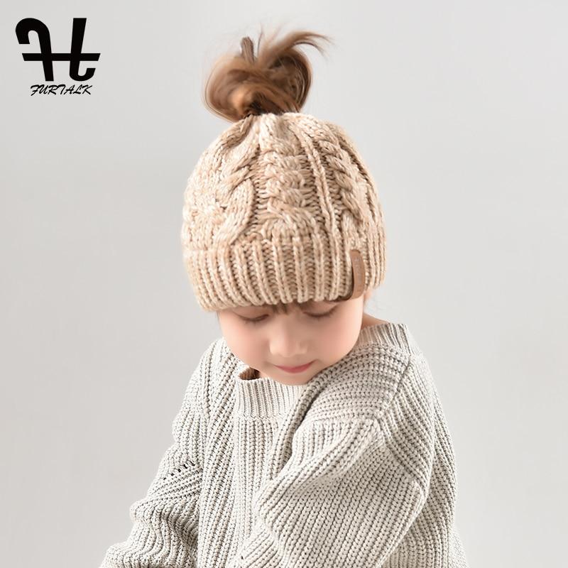 Furtalk детская шапочка теплые зимние шапки для девочек и мальчиков