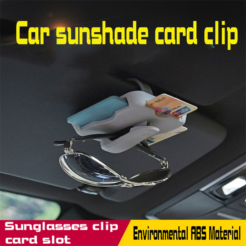 General purpose Car Portable Fastener sunshade card clip Sunglasses clip card slot Car supplies in Stowing Tidying from Automobiles Motorcycles