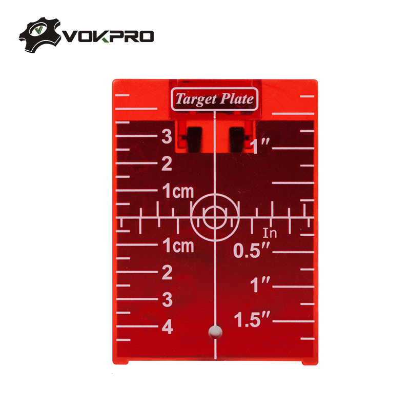 Target Plate Red / Green For Laser Level Rotary Cross Line