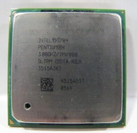 Intel Pentium P4 3,0 4 3 ГГц разъем 478 p4 3,0 1M 800 SL7PM характеристики EO P4 3.0E может работать в наличии
