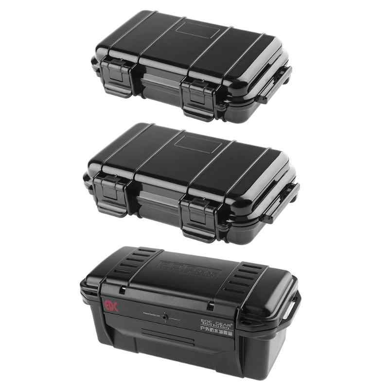 Outdoor Shockproof Sealed Waterproof Safety Case ABS Plastic Tool Dry Box 3 Sizes ABS Plastic Tool case Fishing Tackle Boxes