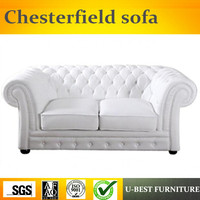 U BEST Luxury europe style replica Chesterfield loveseat sofa for 2 seater,American style leather sofa
