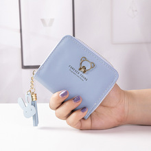 Cute Women Wallet Tassel Zipper With Coin Pocket Womens Wallets And Purses Small Short PU Leather Purses Carteira Portefeuille