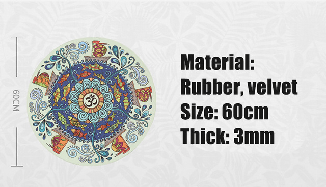 Meditation Round Non slip Natural rubber Mat