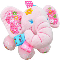 Sozzy Baby Toys Music Pull Rattles Multifunctional Elephant Kids Bell Ring Paper Car Bed Hanging Strollers
