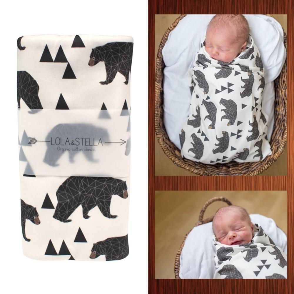 1 Piece Baby Blankets Newborn Baby Soft Cotton Muslin Swaddle Blanket Envelopes 60x80cm