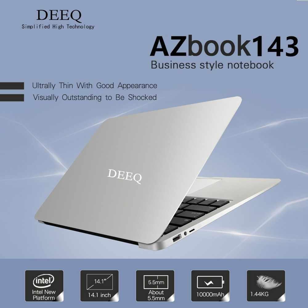 משרד מחשב נייד מחשב עם Intel Atom X5-Z8350 1.46 Ghz Quad Core 4 GB RAM & 64 GB EMMC + תמיכה TF 6 שעות שנמשך 8000 mAh סוללה