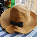2016 Classic Design Womens Dress Hats Summer Style Floppy Ruffle Wide Brim Bow Decorated Camping Visor Beach Hats 2016031109 u3