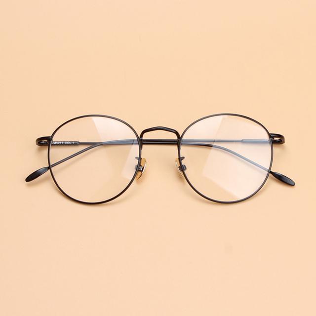 Mulheres Unisex do vintage Retro Rodada Armação de Metal armações de óculos de Lente Clara óculos Ópticos quadro Completo óculos de armação Dos Óculos