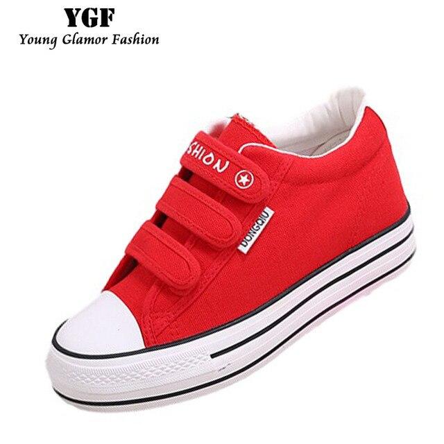 YGF Весной и Осенью Мода Белый Холст Повседневная Обувь для Женщин Низкий Квартиры Дышащий Холст Каблуки женщин Вулканизированной Обувь