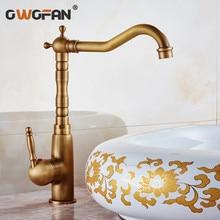 Fashion bronze faucet antique kitchen mixer basin vintage sink tap vegetables HJ-6720F