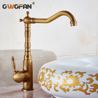Basin Faucets Antique High Arch Classic Kitchen Mixer Basin Mixer Vintage Sink Faucet Tap Popular Bathroom Hotel Faucet HJ 6720F
