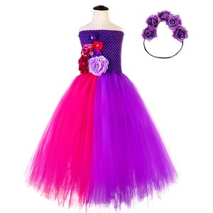 Image 4 - Purple Princess Girls Christmas Party Tutu Dress for Baby Beauty Fairy Kids Butterfly Flower Dresses Birthday Wedding Costume