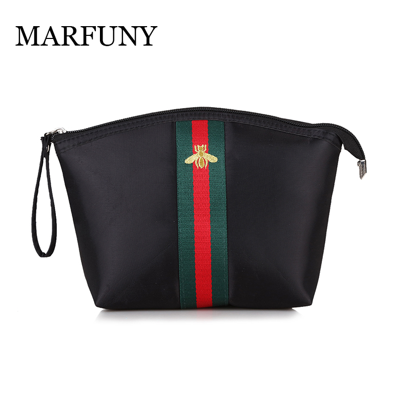 MARFUNY New Arrival High Quality Oxford Women Cosmetic Bag Little Bee Female Makeup Bag Patchwork Portable Women Organizer Bag oxford bookworms library stage 4 little women