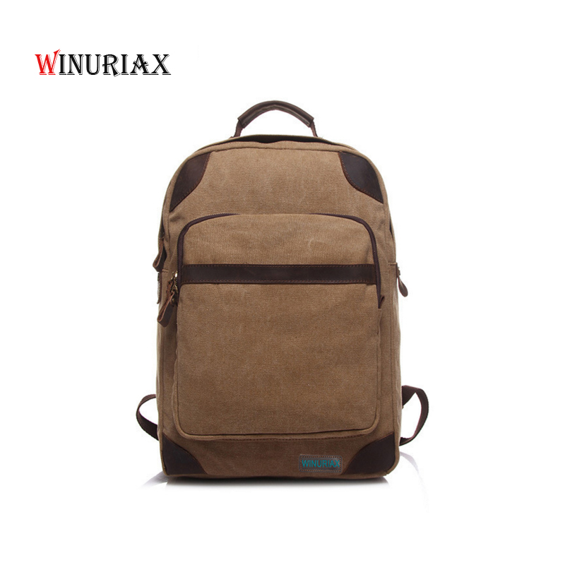 WINURIA Durable student school backpacks Canvas softback unisex bags Men travel 14inch laptop books bag for women 2018 new