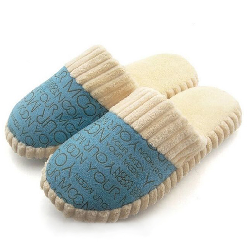 New Slipper Autumn Winter Warm Men Women Cotton-padded Lovers At Home Slippers Indoor floor Shoes autumn and winter carton lovers slippers indoor cotton padded floor warm slippers plush for women slippers