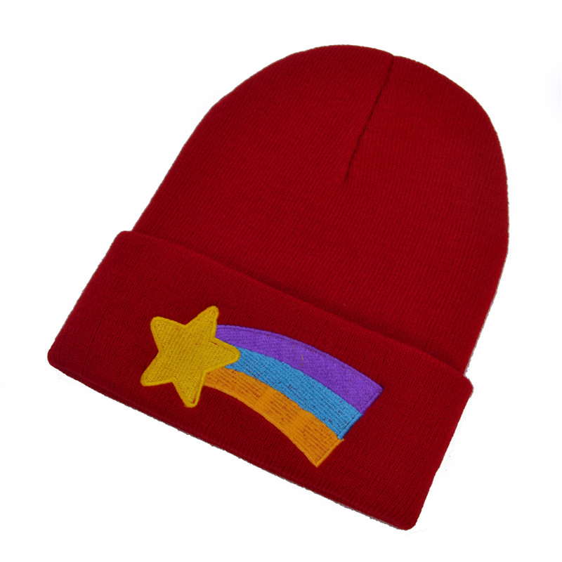 c64261fe859 Gravity Falls Girls Women Winter Warm Hat Dipper Mabel Pines Red Knit  Beanie Shooting Star Anmation Nice Red Knitted Caps-in Skullies   Beanies  from Apparel ...