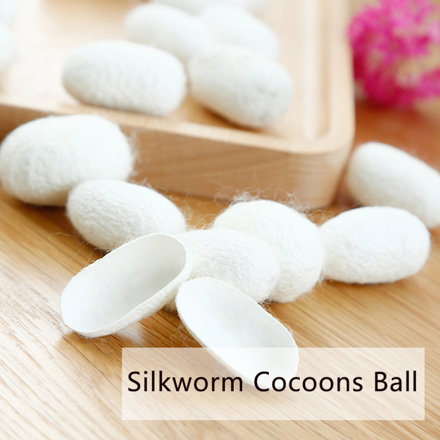 10pcs Organic Natural Silk Cocoons  Silkworm Balls Facial Skin Care Exfoliating Scrub Nose Clean Purify Blackhead Acne Remover 1