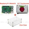 """Raspberry Pi 3 Модель B + 3.5 """"LCD Сенсорный Экран стилусом + Акриловый Чехол Бесплатная Доставка"""